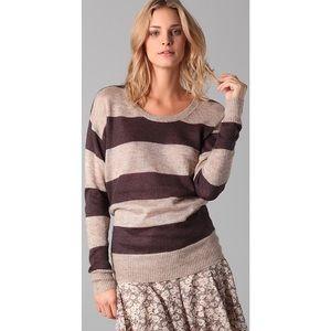Club Monaco Mohair Blend Striped Sweater Xs